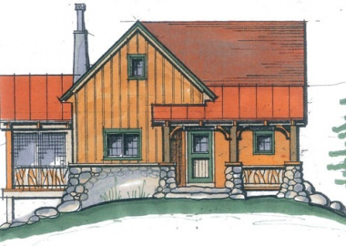 Foxtail Cabin-Elevation