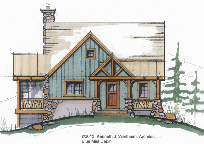 The Blue Mist Cabin: A Small Timber Frame Home Plan
