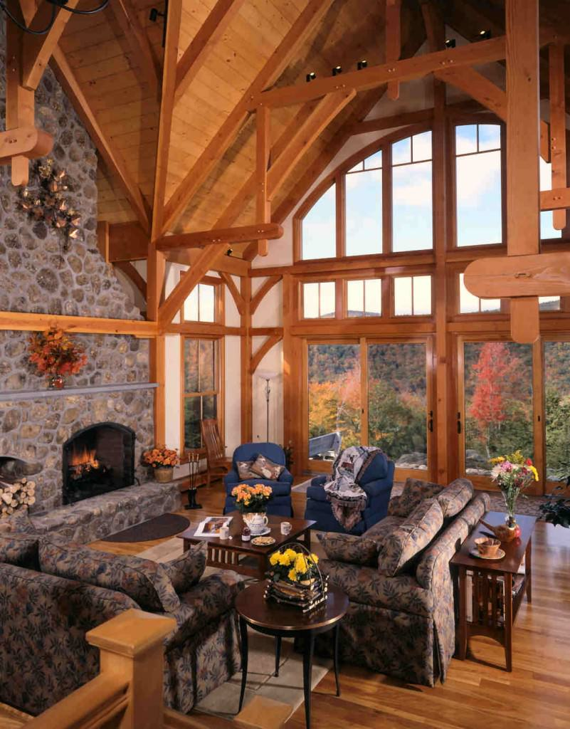 A Timber Frame House With A View Timberpeg Timber Frame